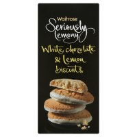 Waitrose Seriously Lemony white chocolate & lemon biscuits