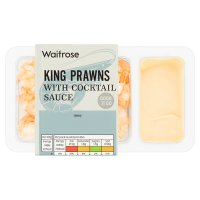 Waitrose Good To Go king prawns with cocktail sauce