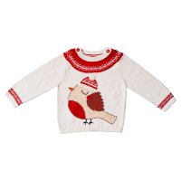 Waitrose CHRISTMAS ROBIN KNITTED JUMPER 2