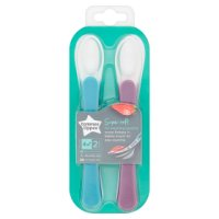 Tommee Tippee 4-7month explora weaning spoons, pack of 2, assorted