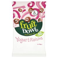 Fruit Bowl Raisins in a Yogurt Coating 5 pack