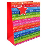 Eurowrap medium happy birthday bag
