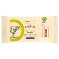 Waitrose organic english cheddar (extra mature)