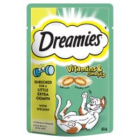 Dreamies+ vitamins & omega 3 with chicken