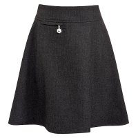 Girls A-line skirt, grey, 9 years