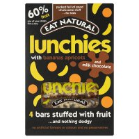 Eat Natural lunchies, banana's, apricots & milk chocolate