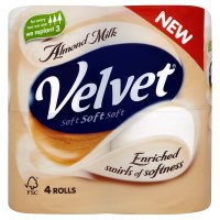 Velvet almond milk toilet tissue white