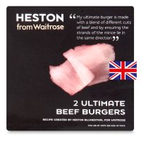 Heston from Waitrose 2 ultimate beef burgers