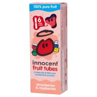 Innocent kids strawberry and raspberry fruit tubes, 6x40g