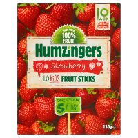 Humzingers 10 Strawberry Fruit Sticks