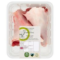 Waitrose Duchy Organic British lamb leg shanks