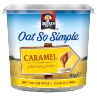 Quaker Oat So Simple caramel porridge cereal pot