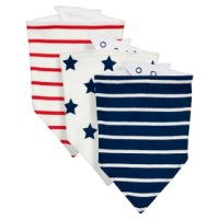 Waitrose 3PK BOYS STAR BANDANA BIBS -ONE