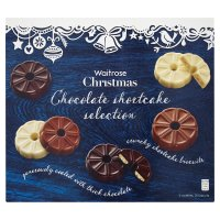Waitrose Christmas chocolate shortcake selection
