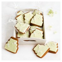 12 Blossom Gingerbread Biscuits - PASTEL YELLOW