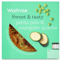 Waitrose Summer petit pois & courgette quiche