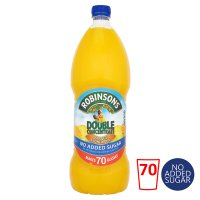 Robinsons no added sugar orange & pineapple, double concentrated