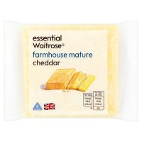 essential Waitrose farmhouse mature Cheddar cheese, strength 3