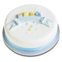 Toys Christening Cake - Blue Train - Fruit (25cm)
