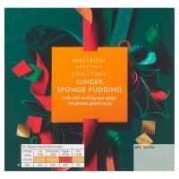 Waitrose Christmas Ginger Sponge Pudding