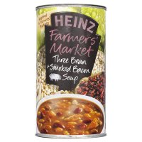 Heinz Farmers Market three bean & smoked bacon soup