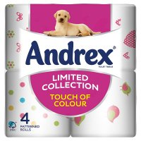 Andrex® Limited Collection Bright & Bold Toilet Tissue 4 Roll