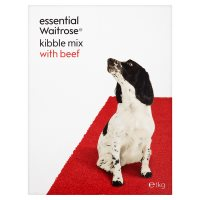 essential Waitrose kibble mix with beef