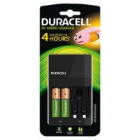 Duracell 4 Battery Charger 4 hour  2 AA Batteries 1300mAh
