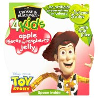 Crosse & Blackwell 4 kids apple pieces in raspberry jelly