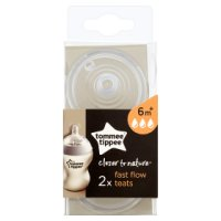 Tommee Tippee 6month+ closer to nature fast flow teats, pack of 2