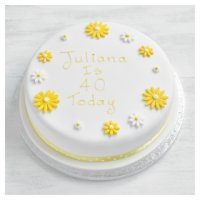 Yellow Daisy Cake - golden sponge