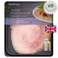 Waitrose British Wiltshire breaded ham, 8 slices