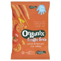 Organix organic carrot & tomato rice cakes - stage 2