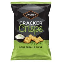 Jacobs sour cream & chive cracker crisps