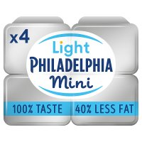 Philadelphia Light 4 Mini tubs soft white cheese