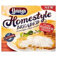 Young's 4 large haddock fillets in breadcrumbs