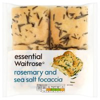 essential Waitrose Rosemary & Sea Salt Focaccia