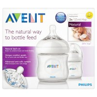 Philips Avent 125ml 0month+ natural bottles, pack of 2