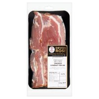 Drose free range dry cure apple smoked streaky bacon