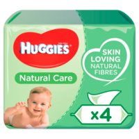 Huggies Natural Care Baby Wipes Quad Pack 4x64s