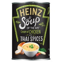 Heinz cream of chicken soup with aromatic Thai spices