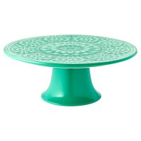 Waitrose Riad Reactive Crackle Cake Stand Green