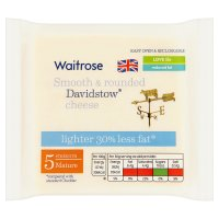 Waitrose Davidstow Cornish Lighter mature cheese, strength 5