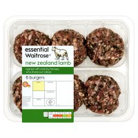 essential Waitrose 6 New Zealand burgers