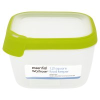 essential Waitrose 1.25 litre square food keeper