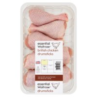 essential Waitrose British chicken drumsticks