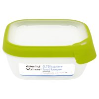 essential Waitrose 0.75 litre round food keeper