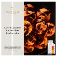 Waitrose 1 salted caramel & dark chocolate profiteroles