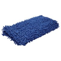 essential Waitrose mid blue bath mat