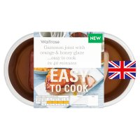 Waitrose Easy To Cook Gammon joint with orange & honey glaze